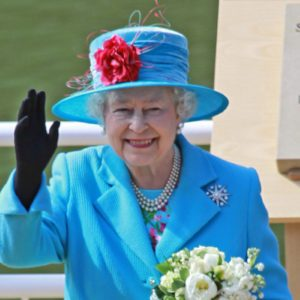 Her Royal Highness Queen Elizabeth II at opening of Royal Open Air Theater, Scarborough, North Yorkshire, England