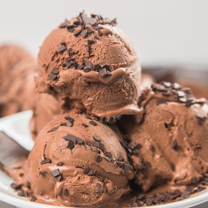 Ice cream with chocolate and chocolate chips; Shutterstock ID 1010248351; Job (TFH, TOH, RD, BNB, CWM, CM): Taste of Home