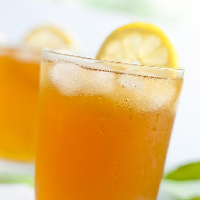 Glass of ice tea with lemon; Shutterstock ID 139590926; job: Taste of Home