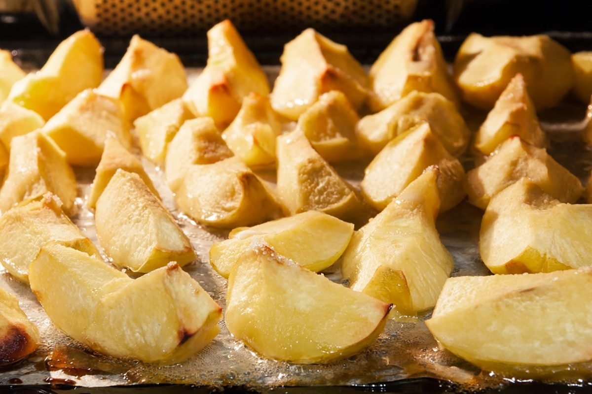Preparation of quince. Apple quince baked with sugar.; Shutterstock ID 511921912; Job (TFH, TOH, RD, BNB, CWM, CM): Taste of Home
