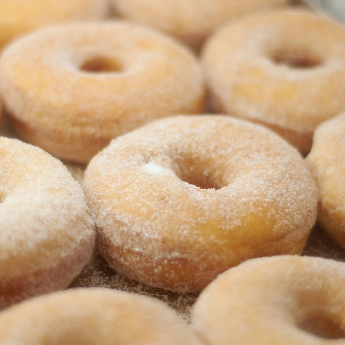 a tray of sugar dusted donuts; Shutterstock ID 55775686; Job (TFH, TOH, RD, BNB, CWM, CM): Taste of Home