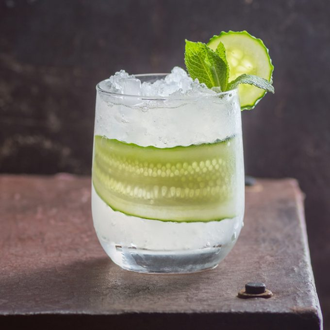 a cocktail with gin, lime and cucumberaa; Shutterstock ID 644670775; Job (TFH, TOH, RD, BNB, CWM, CM): Taste of Home