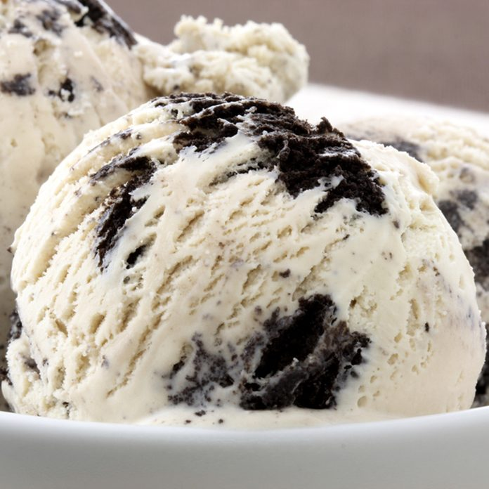 real cookies and cream ice cream, not made with mashed potatoes or shortening and meets all the regulations regarding using real dairy products to advertise dairy. Shallow dof; Shutterstock ID 79614241; Job (TFH, TOH, RD, BNB, CWM, CM): Taste of Home