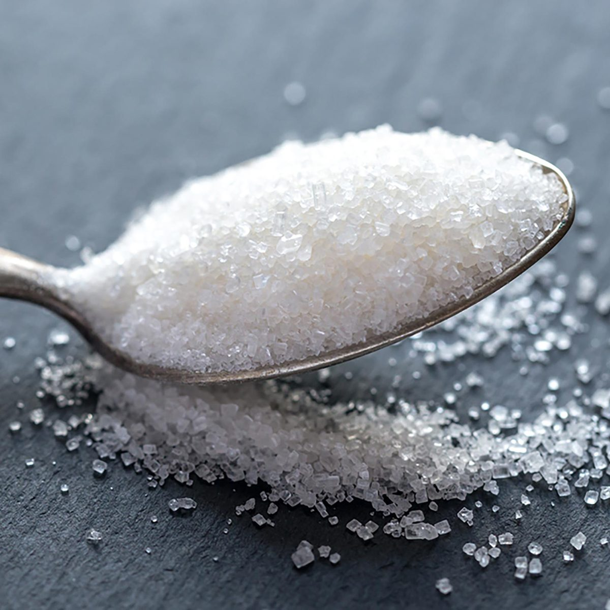 Spoon filled with sugar