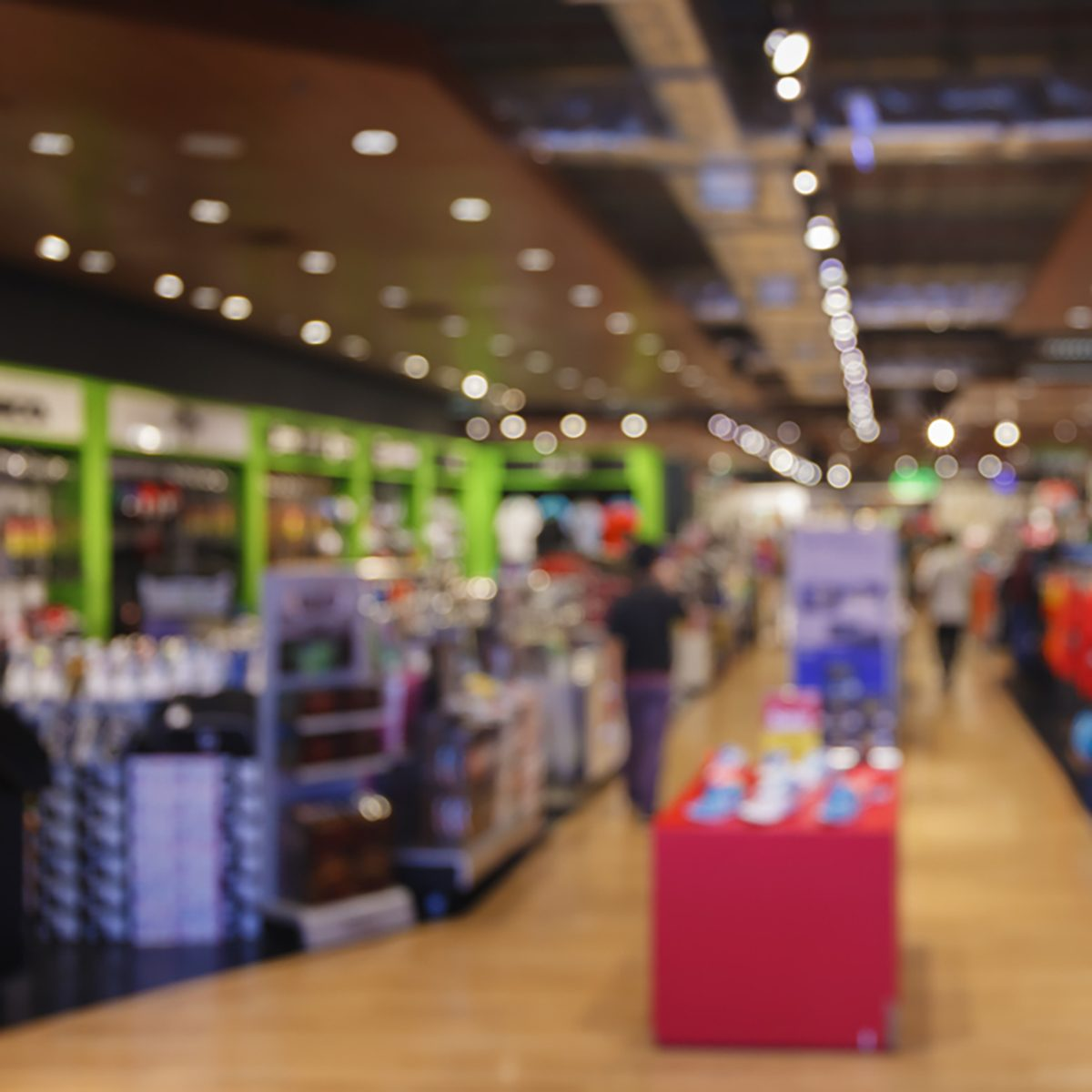 Blurred background of sport department store