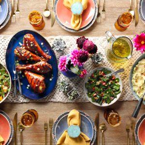Bohemian thanksgiving table