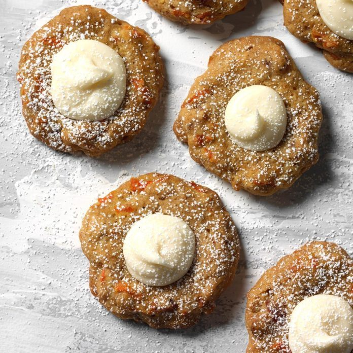 Carrot Spice Thumbprint Cookies