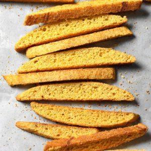 Cheesy Cajun Cornbread Biscotti