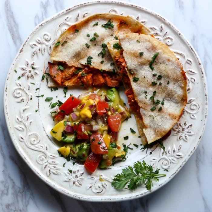 Chipotle salmon quesadilla