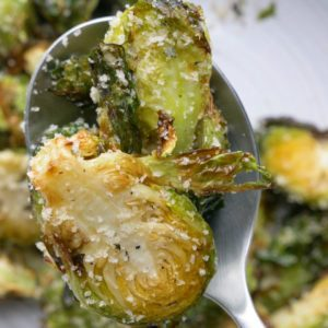 Air Fryer Garlic-Rosemary Brussel Sprouts