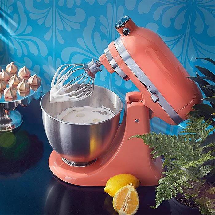 tropical KitchenAid mixer with meringue