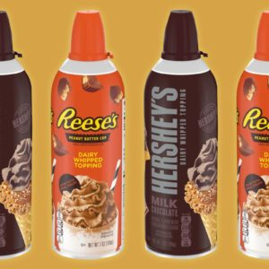 Hershey's and Reese's Whipped Cream Toppings Are Here