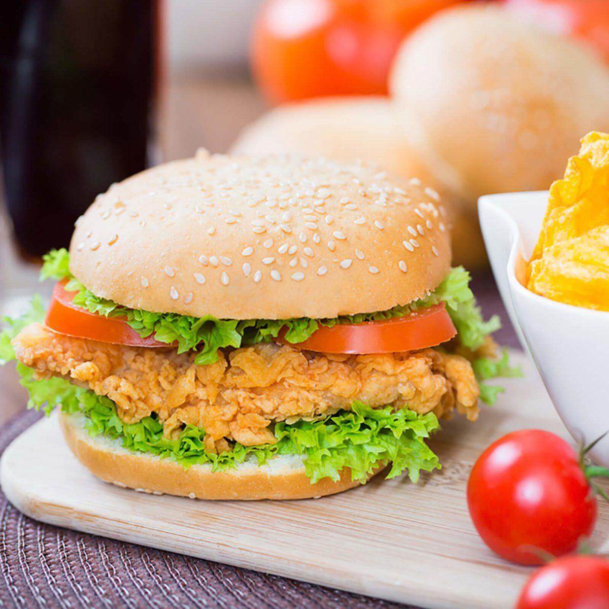 Fried chicken sandiwch