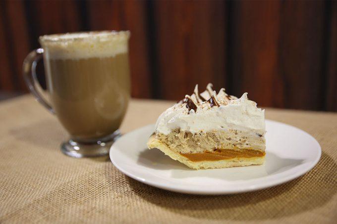 Pumpkin Spice Latte Pie Slice