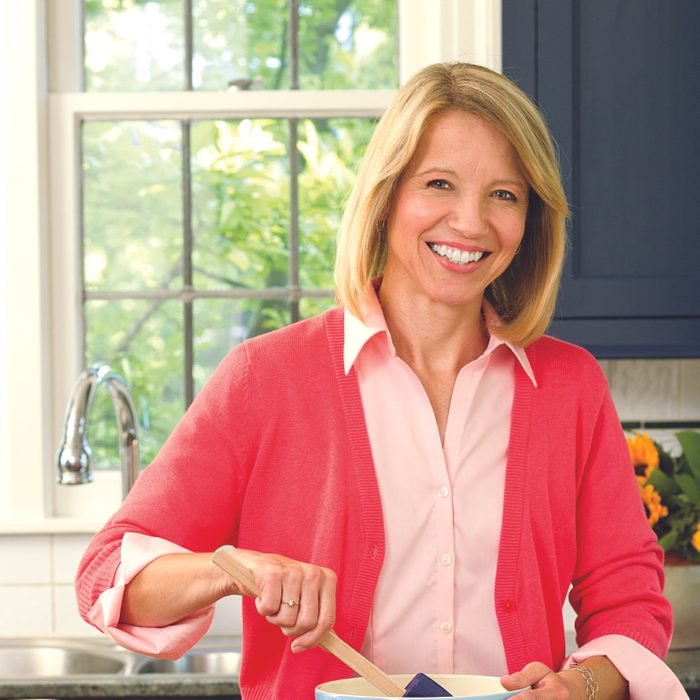 Community Cook Sue Gronholz cooks in her kitchen