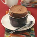 Spiced Chocolate Souffles