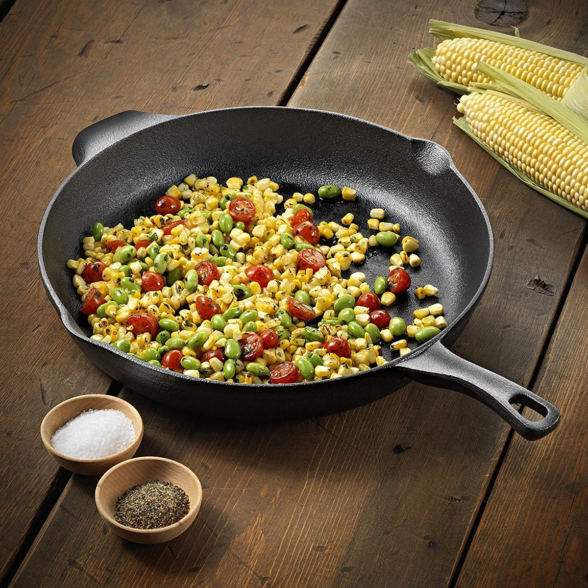Calphalon Pre-Seasoned Cast Iron Cookware, Skillet, 12-inch