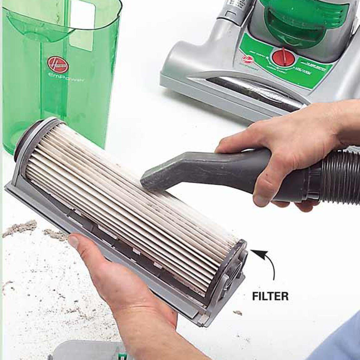 Cleaning vacuum filter