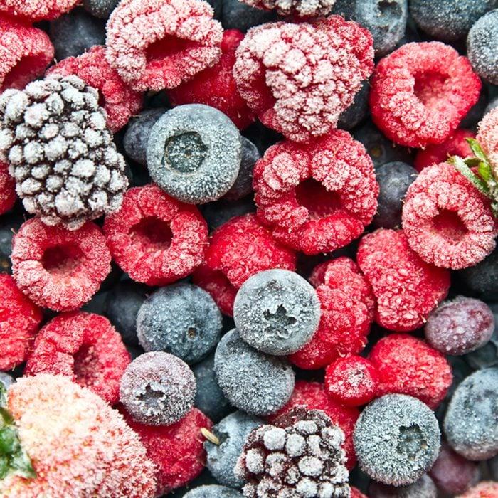 Mix frozen berries background.