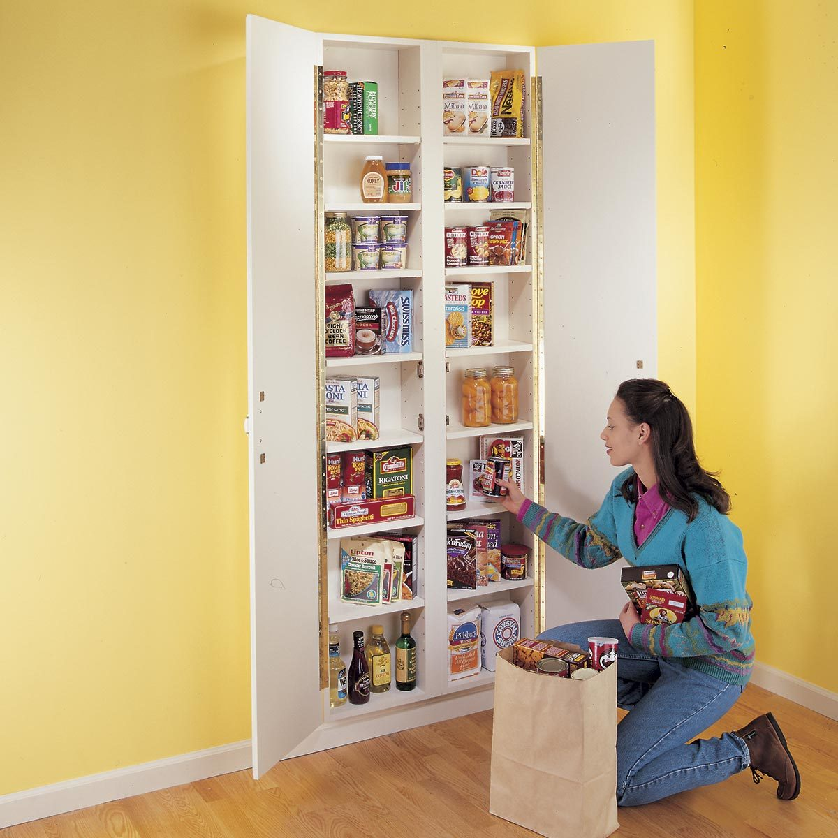 In-wall pantry