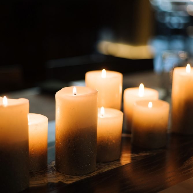 Candles on a table; Shutterstock ID 719781571; Job (TFH, TOH, RD, BNB, CWM, CM): TOH Power outage