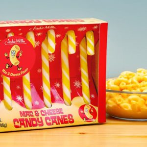 Mac & Cheese Candy Canes Exist And We're Not Sure How To Feel