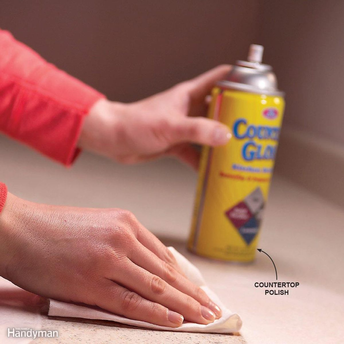 Polishing countertops