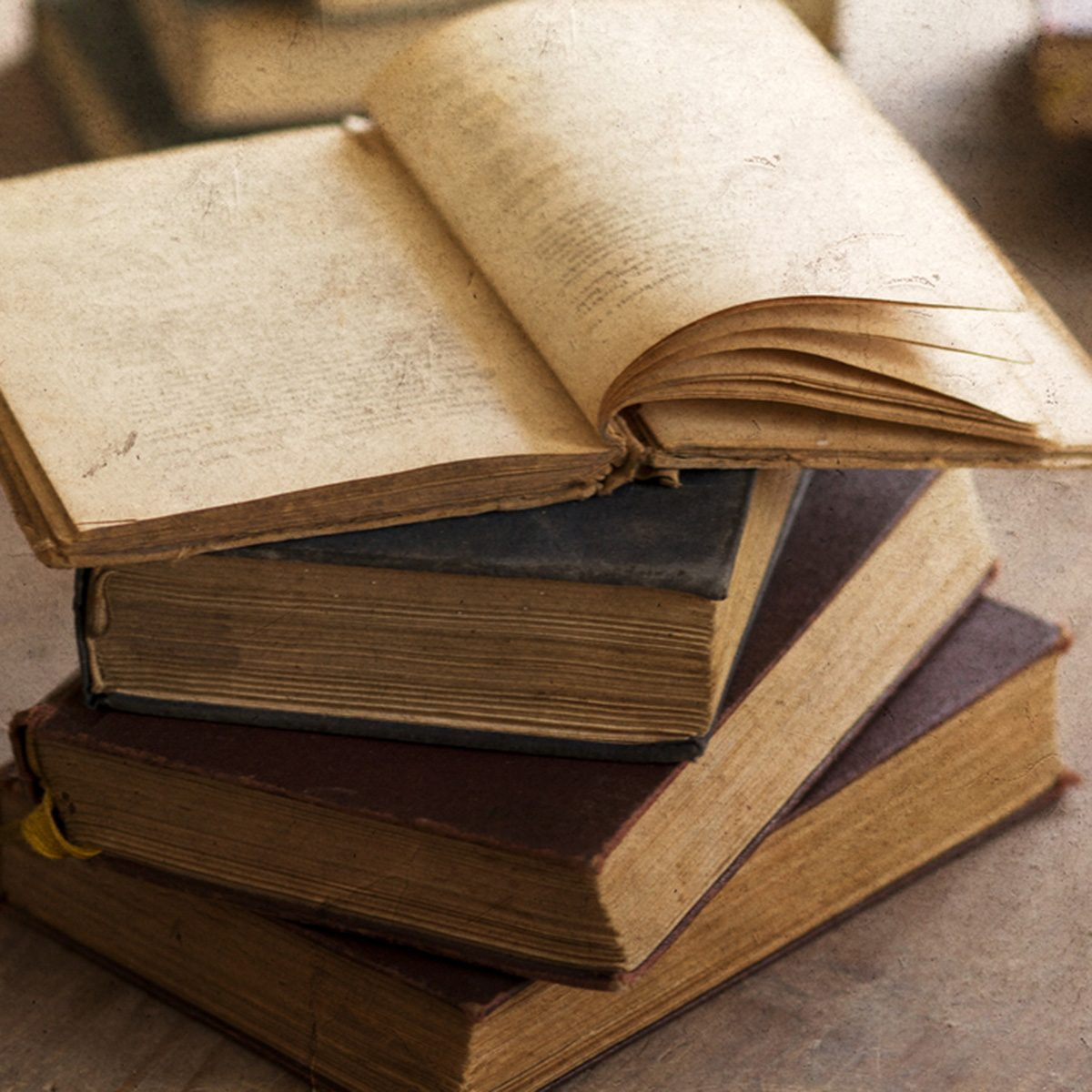 Pile of old books; Shutterstock ID 150763928; Job (TFH, TOH, RD, BNB, CWM, CM): Taste of Home