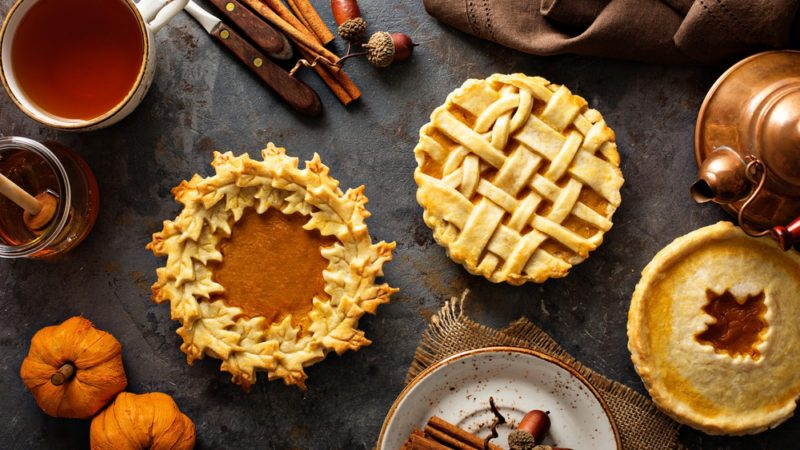 Pies on Fall Table