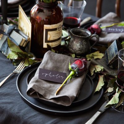 Spooky place setting