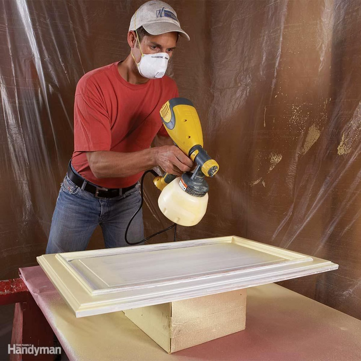 Spray painting doors