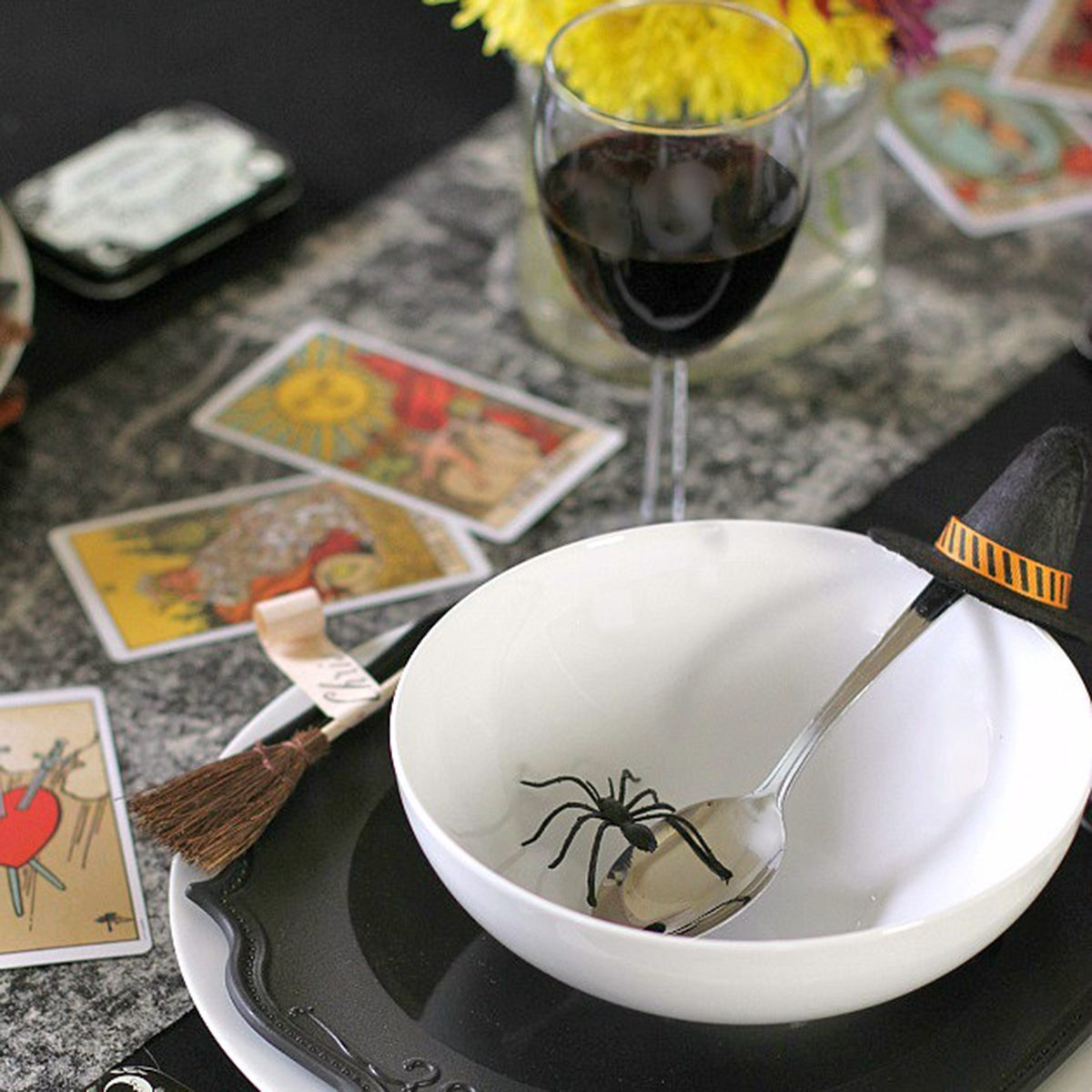 Witches place setting