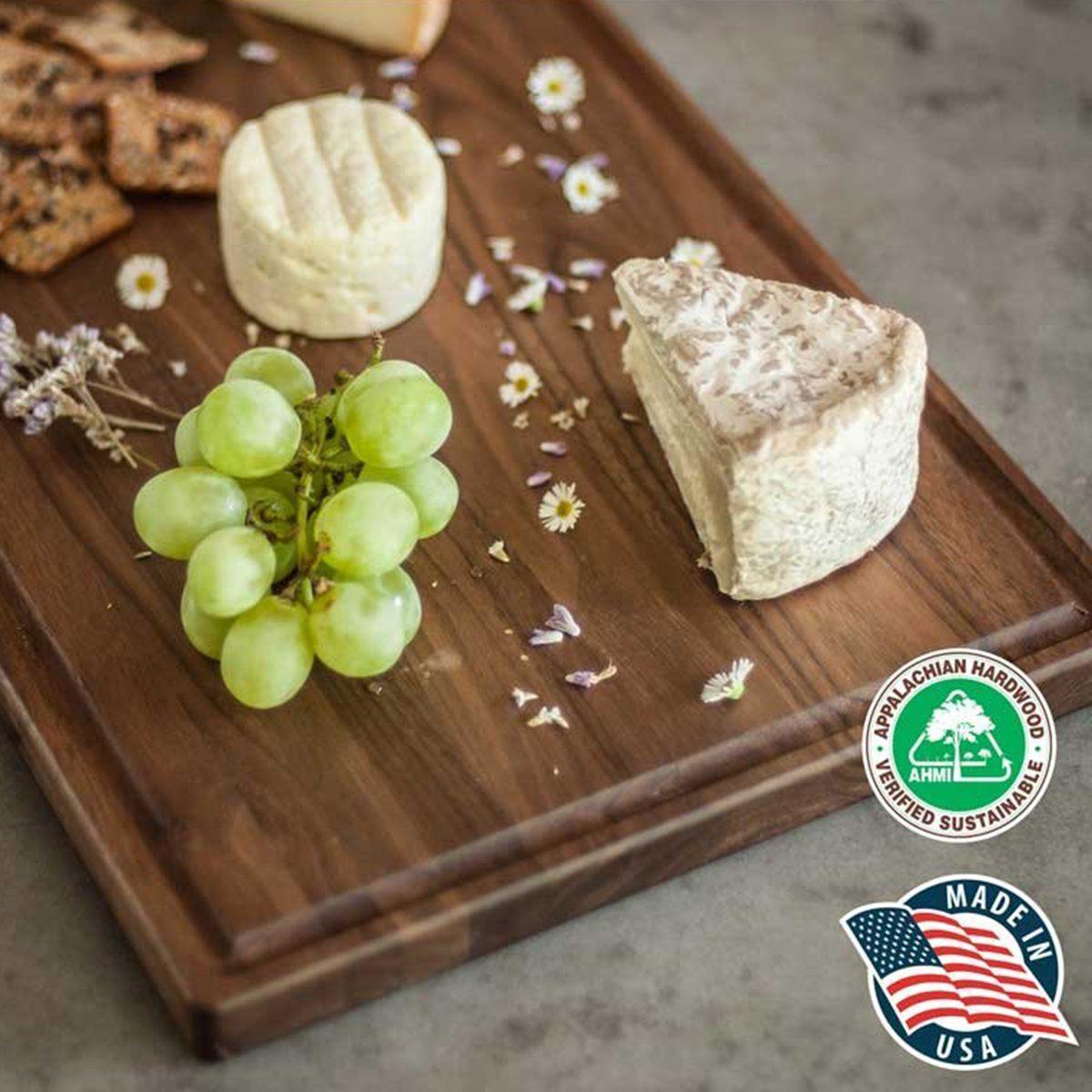 Large Walnut Wood Cutting Board by Virginia Boys Kitchens
