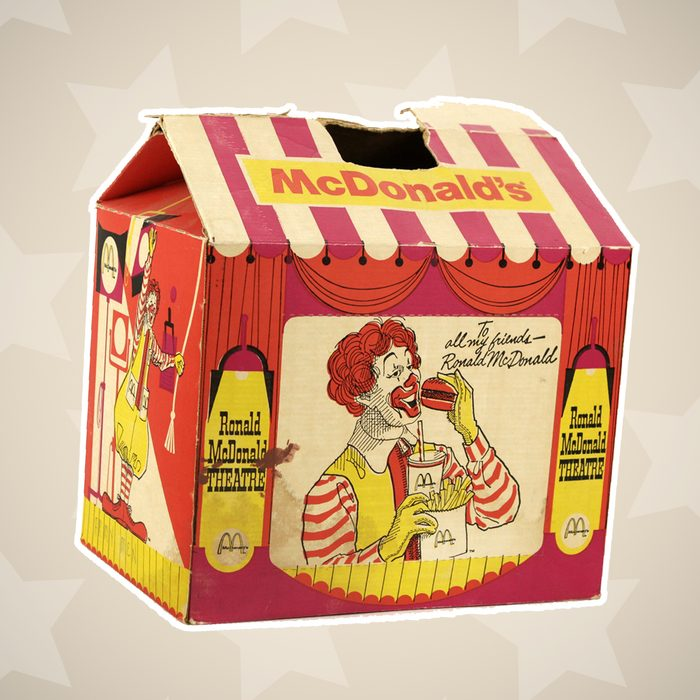 1960s happy meal box