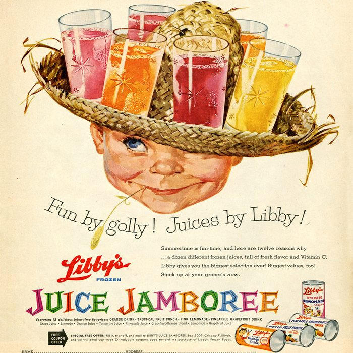 vintage ad for libby's juice