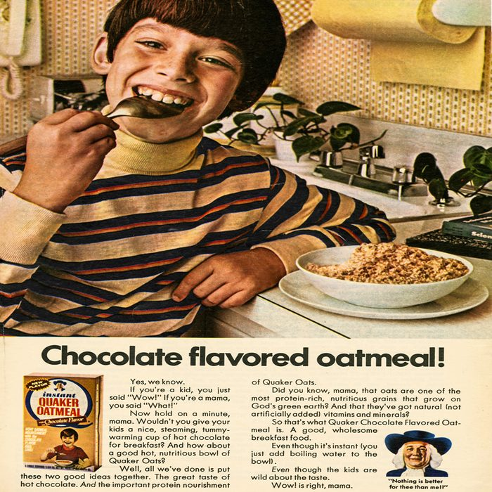 vintage ad for chocolate oatmeal