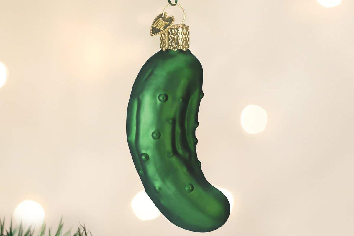 christmas pickle ornament its german tradition on the tree christmas pickle ornament its german