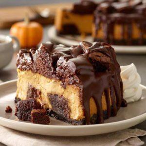 Olive Garden's New Chocolate Pumpkin Cheesecake Is Here