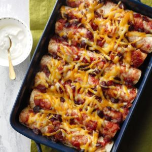 Cranberry Chipotle Chicken Enchiladas