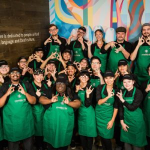 """Starbucks Opens First U.S. """"Signing Store"""" to Serve Deaf Customers"""