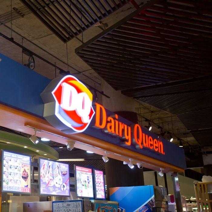 Exterior view of Dairy Queen shop