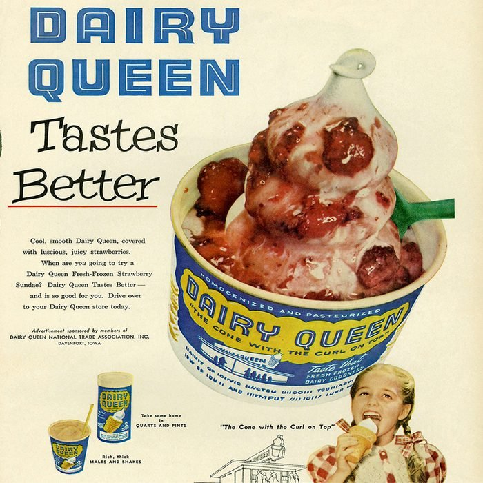 vintage ad for dairy queen