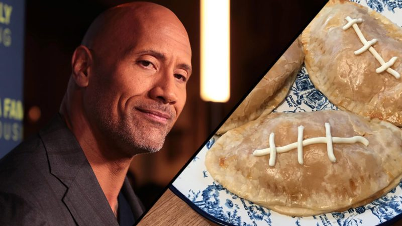 Dwayne Johnson and Football Calzones