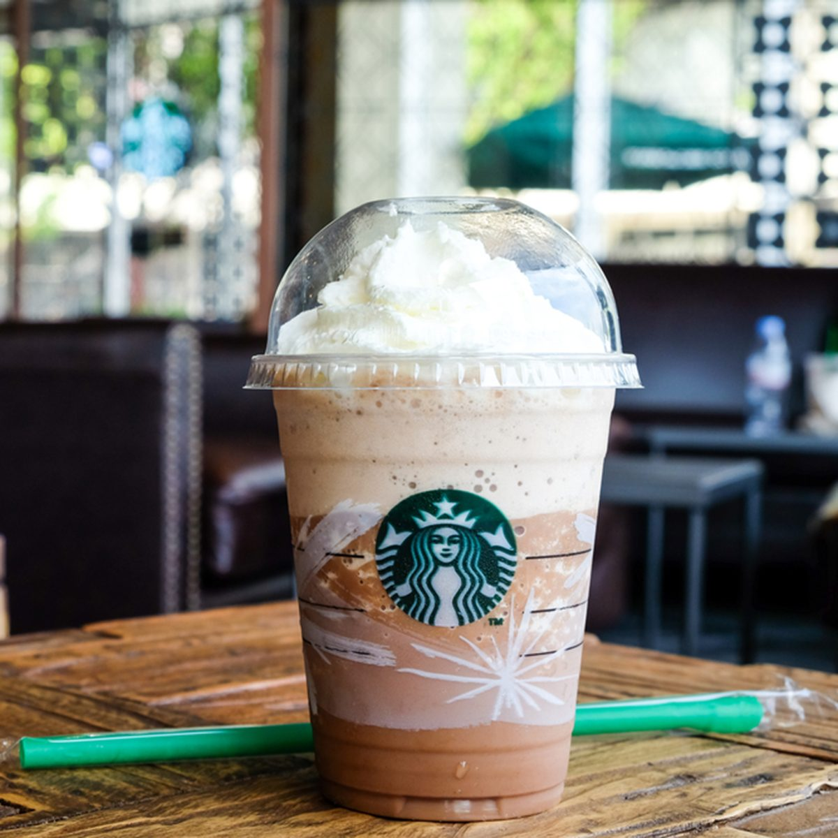 Glass of Starbuck Coffee Frappuccino Blended Beverages.
