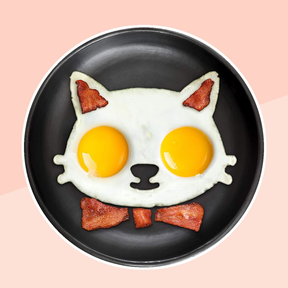 Fred FUNNY SIDE UP Silicone Egg Mold, Cat