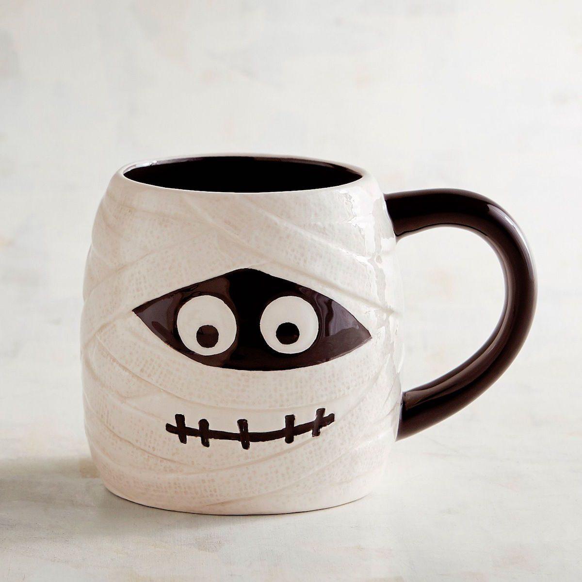 halloween, mummy, mug