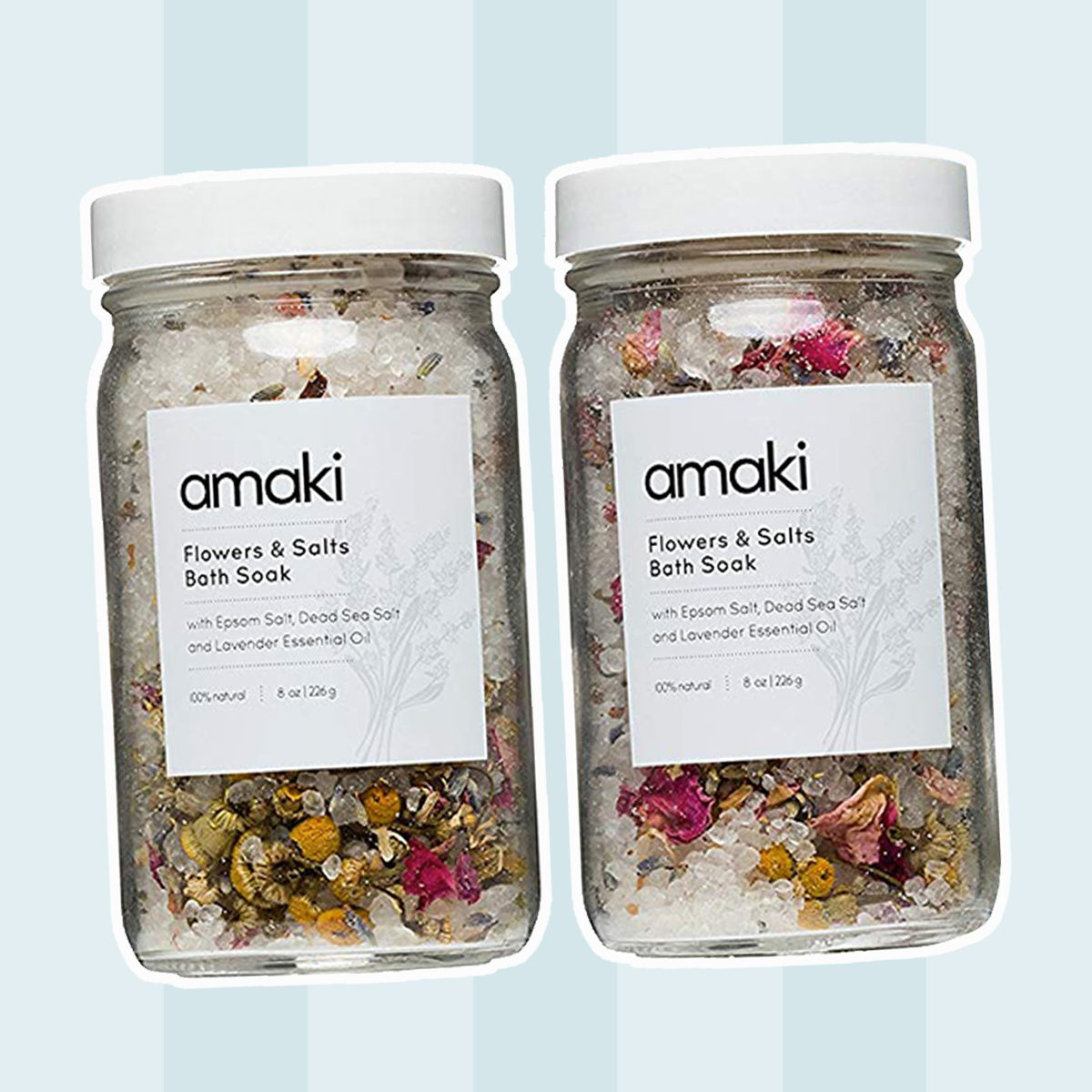 Herbal Bath Soak Blend of Epsom & Dead Sea Salt Infused with Lavender Essential Oil! For Stress Relief, Reduce Sore Muscle, Skin Soothing - Luxury Gift Set