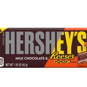 Hershey's New Chocolate Bar Is Studded with Reese's Pieces, Proving Dreams Do Come True