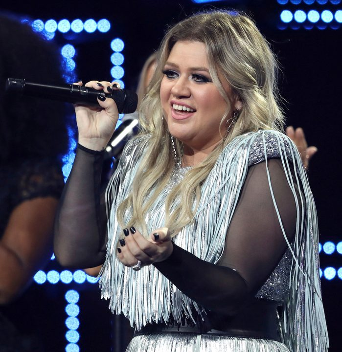 Kelly Clarkson performs at the opening night ceremony of the U.S. Open tennis tournament at the USTA Billie Jean King National Tennis Center, in New York