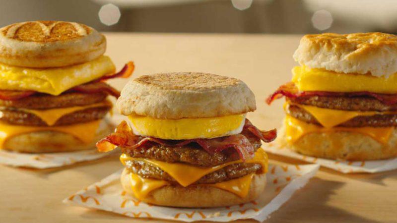 Triple stack sandwiches